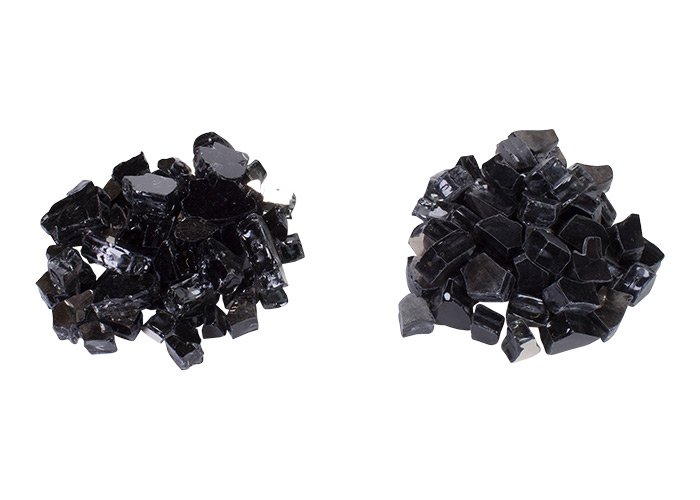 Tumbled Fire Glass versus High Luster Fire Glass