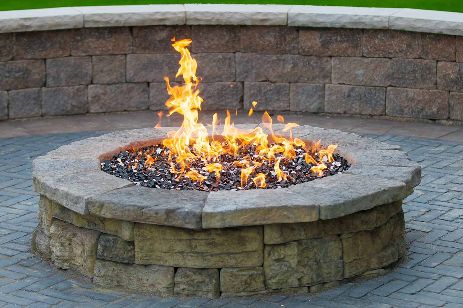 Outdoor Fire Pit - Celestial Fire Glass Support