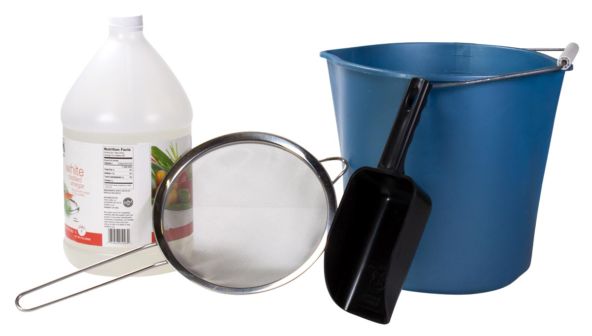 Supplies to clean your fire glass